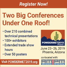 POWDERMET2019 Registration