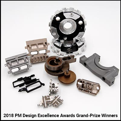 2018 PM Design Excellence Award Winning Parts