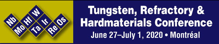 Tungsten2020: International Conference on Tungsten, Refractory & Hardmaterials