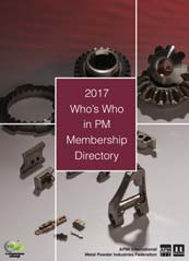 2017 Who's Who in Powder Metallurgy